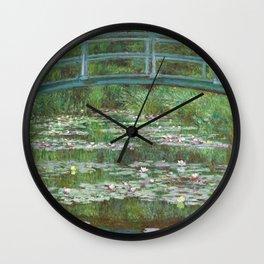 """Claude Monet """"The Japanese Footbridge"""" Wall Clock"""