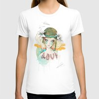 war T-shirts featuring War girl by Ariana Perez