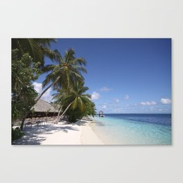 Maldivian Beach, Vilamendhoo, Maldives Canvas Print