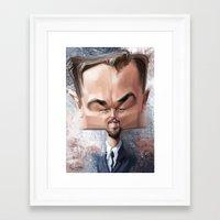 leonardo dicaprio Framed Art Prints featuring Leonardo Dicaprio by Alexander Novoseltsev