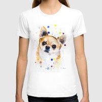 chihuahua T-shirts featuring Chihuahua by Slaveika Aladjova