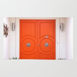 Palm Springs Orange Crush Door Rug