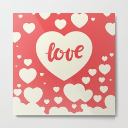 Floating Hearts Metal Print