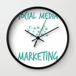 Social Media Can Wait Time For Marketing Wall Clock