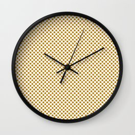 Pirate Gold Polka Dots Wall Clock