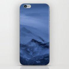 Winter magic blue mountain iPhone & iPod Skin
