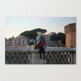 Selfie in Rome Canvas Print