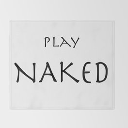 Play Naked Throw Blanket