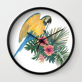 Parrot composition Wall Clock