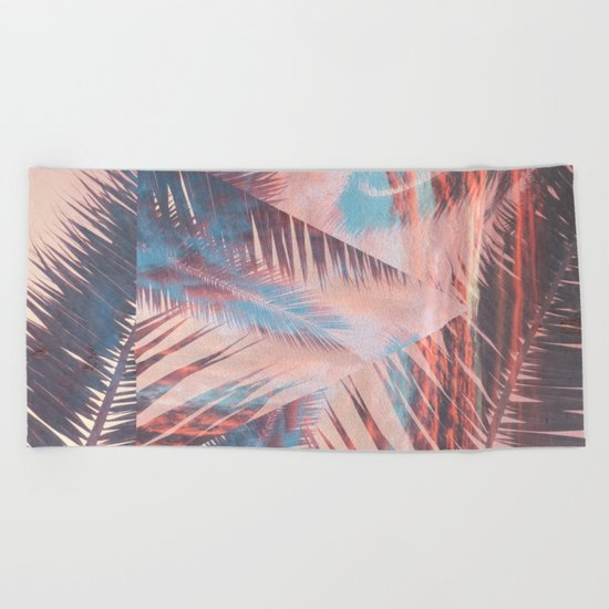 Vibrant Palm Beach Towel