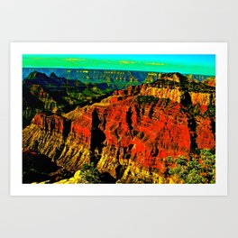 Layers of time Art Print