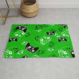 Video Game Green Rug