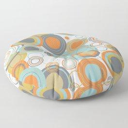 Retro Mid Century Modern Circles Geometric Bubbles Pattern Floor Pillow
