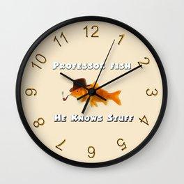 Professor Fish Wall Clock