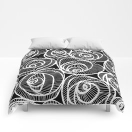 Midnight Roses Comforters