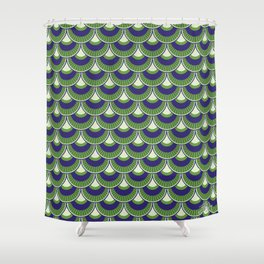 Koi Nobori Midori Shower Curtain