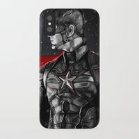 avenger iPhone & iPod Cases featuring First Avenger by p1xer