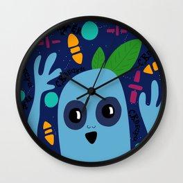 Creechers (Blue Leaf Person Night Edition) Wall Clock