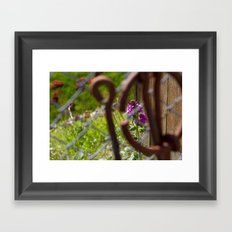 Iron and Purple Flowers Framed Art Print