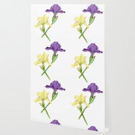 Watercolor irises Wallpaper