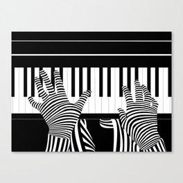 B&W Pianist Canvas Print