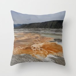 Mammoth Hot Spring Colors Throw Pillow
