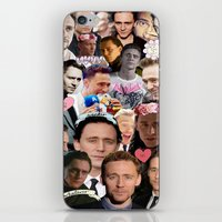tom hiddleston iPhone & iPod Skins featuring Tom Hiddleston/Loki Collage by chiefmarvelous