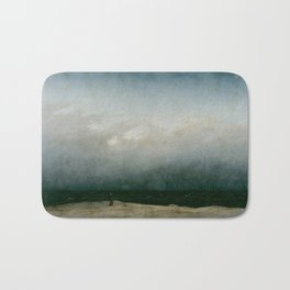The Monk by the Sea Bath Mat