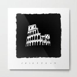 Colosseum in ink Metal Print