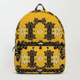 Ornate circulate is festive in  flower decorative Backpack