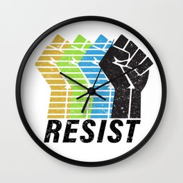 Resist! Wall Clock