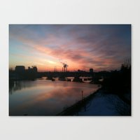 minneapolis Canvas Prints featuring Minneapolis by Ellalauren