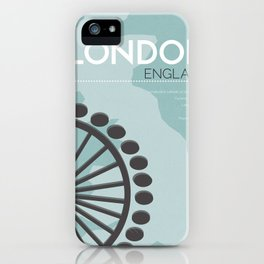 London Poster iPhone Case