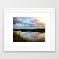 north carolina Framed Art Prints featuring North Carolina by WinnieWorks