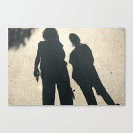 Shadow Mother, Shadow Child Canvas Print