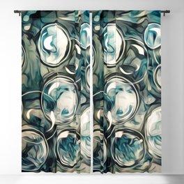 Stylized Bubbles Blackout Curtain