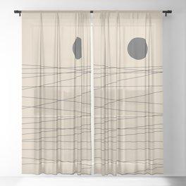 Minimal Landscape Sheer Curtain