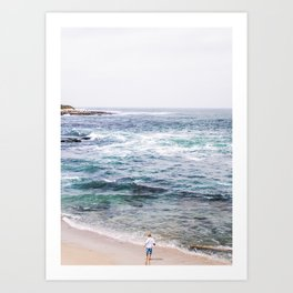The Boy and Sea Art Print