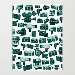Cameras & Green Poster