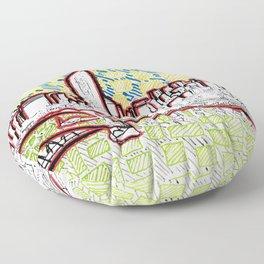 BRISBANE POSTCARD SERIES 022 Floor Pillow