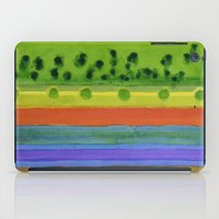 plain iPad Cases featuring Plain with red Field by Heidi Capitaine