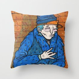 PIMPIN IN BLOOD ALLEY Throw Pillow
