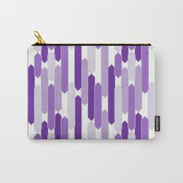 Modern Tabs in Purple on Gray Carry-All Pouch
