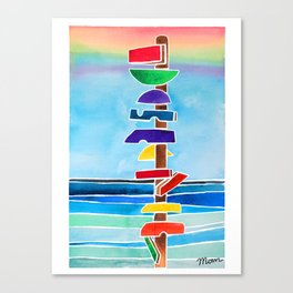 Rhythms at Rainbow Beach Canvas Print
