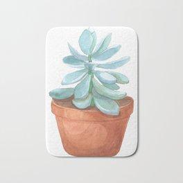 Succulent in the pot Bath Mat