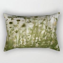 white daisies :) Rectangular Pillow