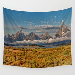The Grand Tetons Panorama Wall Tapestry