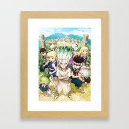 Dr. Stone Anime Framed Art Print