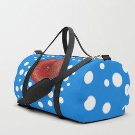Coquelicot et neige bis Duffle Bag
