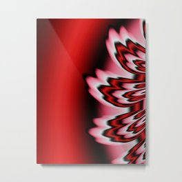 Red Feathers Metal Print